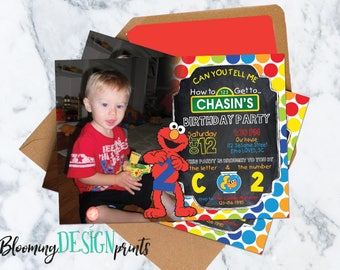 Elmo Sesame Street Invitation - Birthday Party
