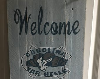North carolina Tarheels welcome
