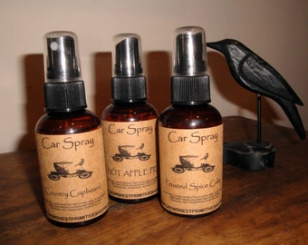 2 ounce CAR SPRAY in Amber spray bottles-choose your scent- Perfect size for travel, bridal or baby showers many fragrances