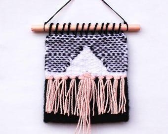 Modern Weaving, Wallhanging, Woven Wall Hanging, Fiber art, Tapestry, Textile art, Wall art, Modern art Miniature tapestry Mother's Day Gift