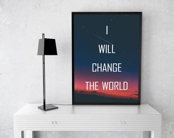 Change The World Affirmation