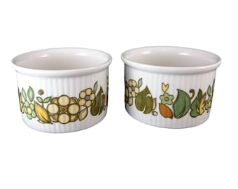 Two 'Forest Flower' Ramekins from Royal Doulton