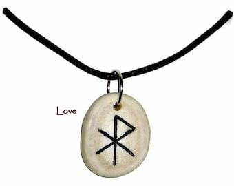 Love Bone Bind Rune Necklace