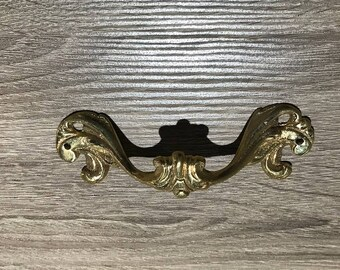 Vintage Brass Drawer Pulls -  Salvaged from a Luxury Ship - Restored and Refurbished