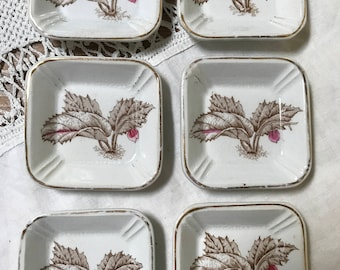 Ironstone Butter Pats Floral China Antique China Serving Victorian Tableware Tiny Plates Trinket Dish Mother's Day Gift