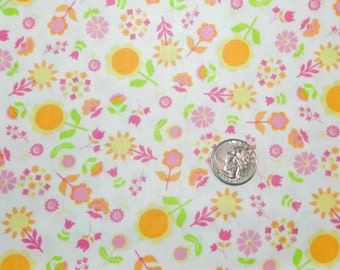 I Heart Floral Pink - Fabric By The Yard - H