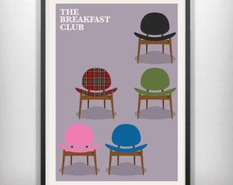The Breakfast Club minimal minimalist movie film print poster