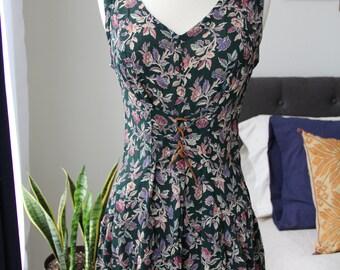 Vintage 90s Floral Print Dress