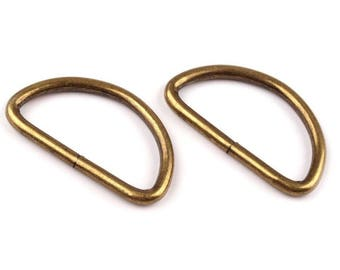 2 D-rings 30 mm bronze