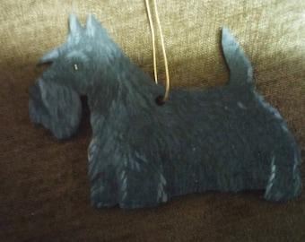 Scottish terrier dog ornament custom