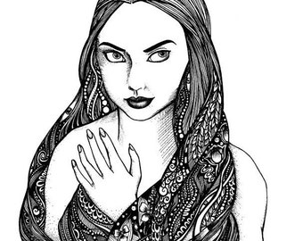 Giclée Art Print: Pen and Ink, 8 x 10 in