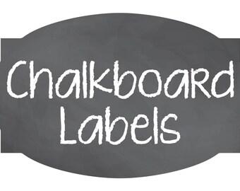 Chalkboard Labels, Wedding Storage, Mason Jar Labels, Blackboard Stickers, Blackboard, container labels, Party Drink labels, Kitchen Labels