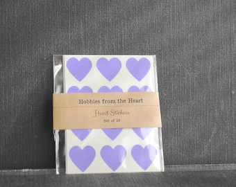 36 Purple Heart Seals / Stickers -