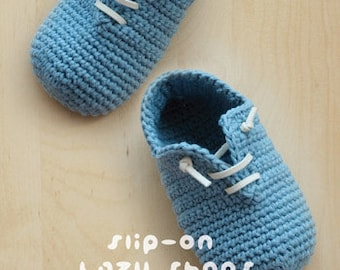 Slip-On Baby Lazy Booties Newborn Crochet Socks Preemie Crochet Sneaker Slip On Shoes Home Slippers Crochet Pattern (SLS01-B-PAT)