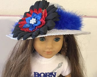 """Hat #12 doll clothes that fits 18"""" like the American girl"""
