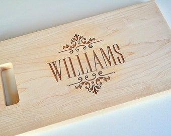 Personalized Cutting Board Laser Engraved 11x15 Wood Cutting Board CBW1115