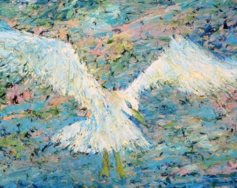 SEAGULL - original oil painting - one of a kind!