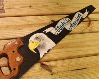 "Custom Painted Handsaw - Eagle - ""Made In America"""