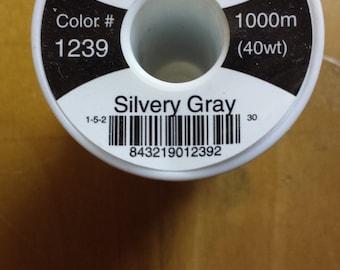 Hemingworth 1239 Silvery Gray Machine Embroidery Thread