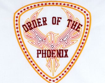 Order of the Phoenix 5x7 machine embroidery design