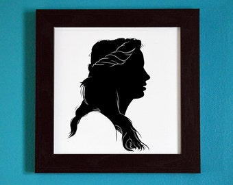Teen Wolf -  Allison Argent Silhouette Portrait Print