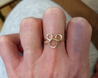 Wire Wrapped Mouse Ring MADE to ORDER