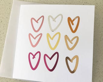 Love Heart Gift Card. Wedding/Anniversary/Congratulations Gift Card.