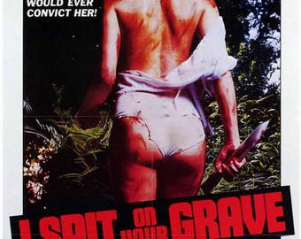 I Spit On Your Grave (1978) 11 x 17 movie poster Camille Keaton rape revenge exploitation grindhouse horror video nasty Nightmare USA