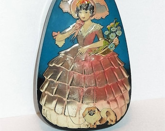 Vintage George W. Horner & Co. Southern Belle with Pekingese Tin Made in England