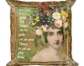 Inspirational Collage Art Decorative Throw Pillow