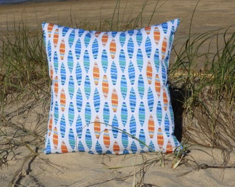 OUTDOOR cushions | decorative pillow cover, unique design, surfboards, surfing, coastal, ocean, beach