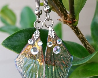 Tanzanite Pixie - Gem Fae Wing earrings