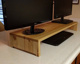 Duel Monitor Stand, Duel Monitor Riser, Monitor Stand For 2, Double Monitor Stand, Duel Monitor Shelf