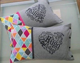 Family pillow cover + pillow