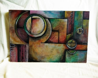 Focus; Acrylic Art Painting 40CV X 60cm, stretched Canvas