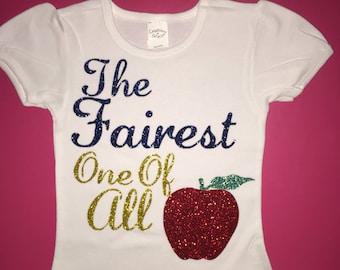 Snow white the fairest one of all shirt birthday shirt disney shirt princess shirt