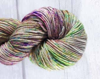 The Day The Crayons Melted - Hand Dyed Blue Faced Leicester 4ply Yarn