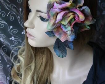 Unique jewelry hair flower adornment charms Flower brooch vintage flower barrette evening dress dance gift for women multicolor flower