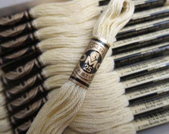 DMC 677, Very Light Old Gold, DMC Cotton Embroidery Floss - 8m Skeins - Full (12-skein) Boxes - Get Up To 50% OFF, see Description