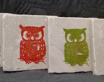 Mod Owl Coasters