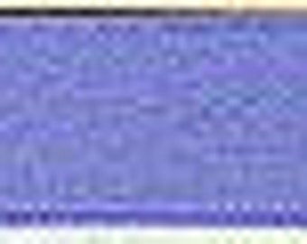 Blue Silk Satin Ribbon, Double-Faced - 1/4 Inch - 6mm - Sold by the Yard
