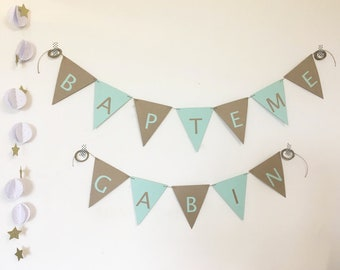 Decorative Garland flags name (1.80 pennant)