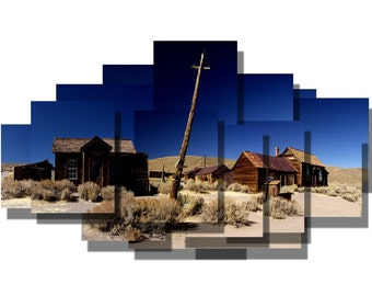 3 pack of 6x9 greeting cards of western photosculptures