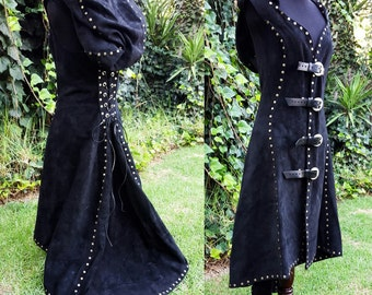 Leather Tunic Vest Frock Coat- Made to Measure, Men and Women