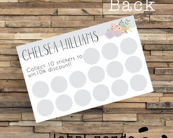 Printed Loyalty Cards, Custom Printed Loyalty Cards, Printed Reward Cards, Business Reward Card, Business Thank You Card, Stamp Card