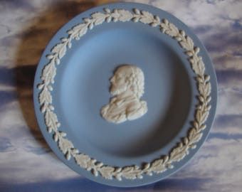Wedgwood Blue Jasperware Dish, Vintage Made in England