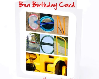 Ben Personalised Birthday Cards for Boys