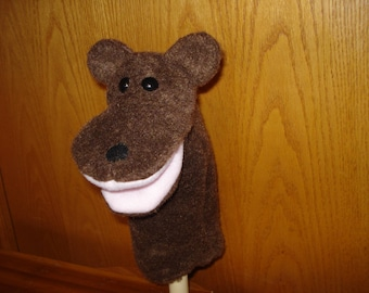 brown Bear hand puppet moveable mouth