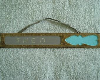 in oak slate door sign