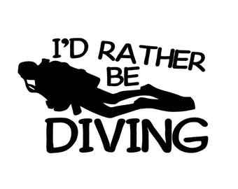 DECAL I'd Rather be Diving